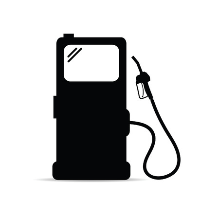 gas station icon art vector