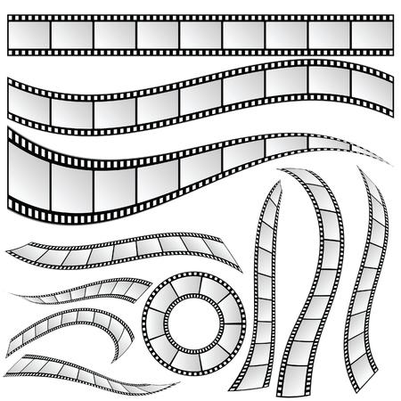film strip set vector art illustration Banque d'images - 125268457