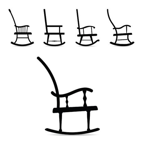 Rocking Chair vector illustration Stock Vector - 125268458