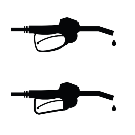 gasoline pump nozzle icon art vector