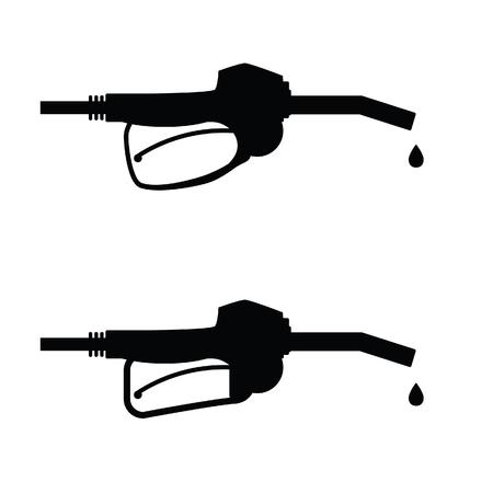 gasoline pump nozzle icon art vector