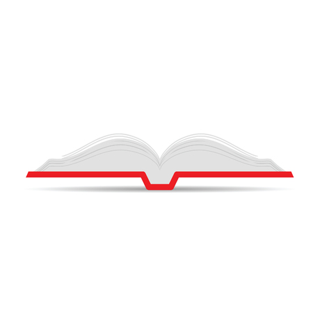 book open icon vector illustration on white