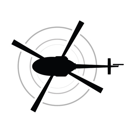helicopter icon vector black silhouette army transportation