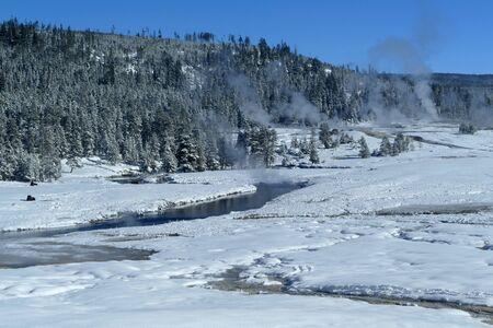 Yellowstone National Park winter panorama landscape