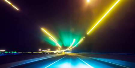 highway traffic: Abstract image of Long exposure night traffic light in the city