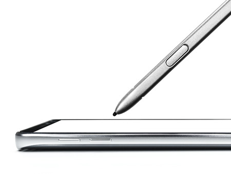close up of smartphone and mobile pen isolate