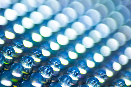diode: Selective focus of led diode panel in blue tone Stock Photo