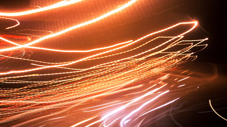 vibrance: Abstract background of night light on street , long exposure shot