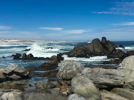 Beautiful beach at west coast national park , cape town south africa