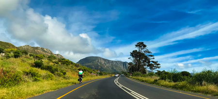 Countryside Road, Scenic road highway over rural hills countryside landscape at soth africa