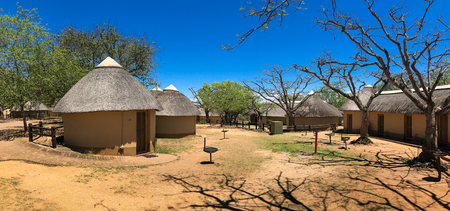 Mpumalanga , South Africa - October 2018 : Rest room and Camping area at kruger national park , South africa