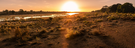 Beautiful Panorama sunset and sunrise at lower sabie camp,kruger national park, soth africa Stockfoto