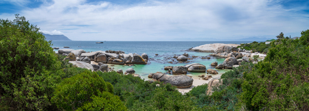 Panorama Shot of Boulders beach nature reserve, Siamons Town, Western Cape, South Africa