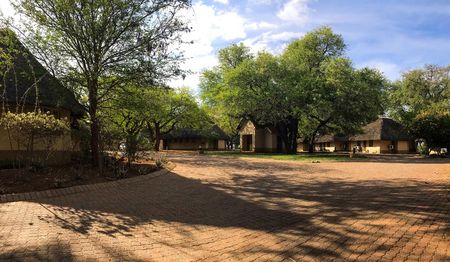 Mpumalanga , South Africa - October 2018 : Rest room and Camping area at kruger national park ,lower sabie camp , Mpumalanga , South africa