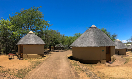 Mpumalanga , South Africa - October 2018 : Rest room and Camping area at kruger national park ,pretoriuskop camp , Mpumalanga , South africa Stockfoto - 119472418