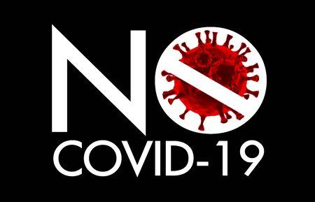 Concept design save area from coronavirus or COVID-19 label