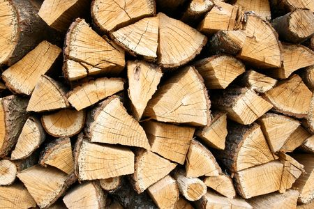 oaken: Woodpile of the oaken log horizontal