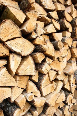oaken: Woodpile of the oaken log vertical