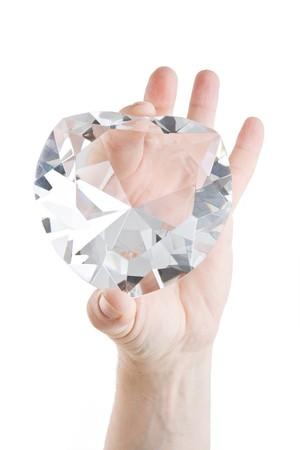 corazon cristal: Gran coraz�n de cristal de dos dedos