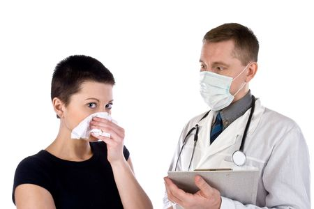 rheum: The chilled girl with a nose-wipe and the doctor