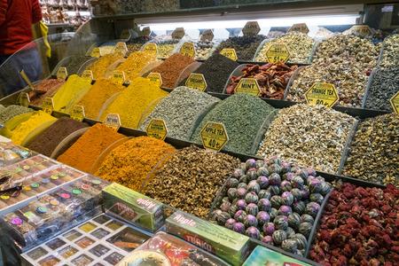 turkish ethnicity: Istanbul, Turkey - November 4, 2015: Showcase in the Grand Bazaar Editorial