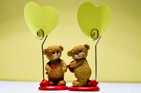 valentine s day teddy bear: two bears like cupids - simbol of Saint Valentine