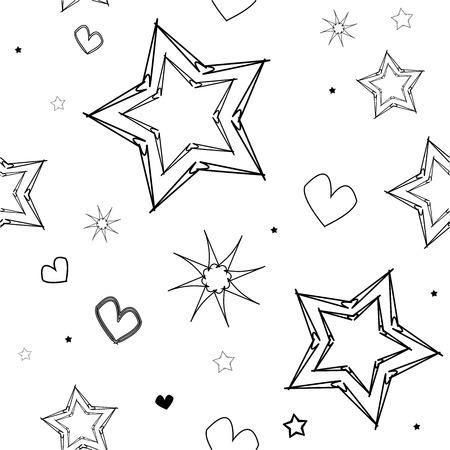 star heart pattern 向量圖像