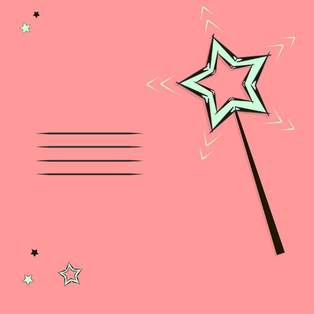 to shine: magic wand card clipart stars notebook shine mystery design