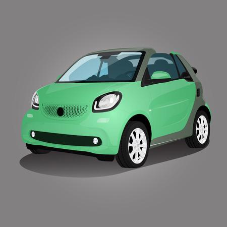 green compact vehicle illustration car auto