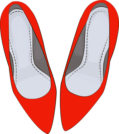 red shoes: Red shoes heels illustration fashion glam clipart