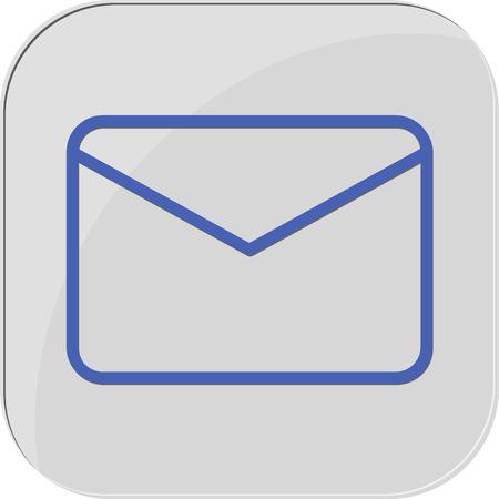 programs: icon programs mail massage web new Illustration