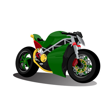 Super Sport Speed Racing Extreme Green Bike Motorcycle