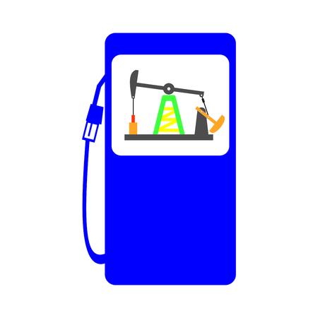 crude: gas station crude oil pump icon illustration Illustration