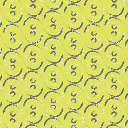 repeat texture: Print textile circle waves lines on the green yellow background. Cover vector illustration good for fashion textile or as a mosaic repeat texture Illustration