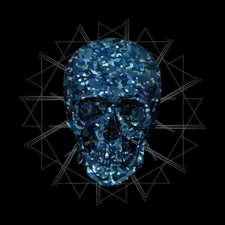 tatto: human skull bones skeleton dead anatomy illustration Illustration