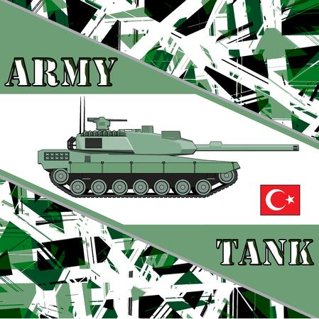 Military tank turkey army. Armur vehicles illustration