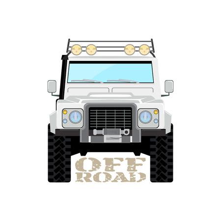 offroad car: Safari offroad car truck 4x4 illustration