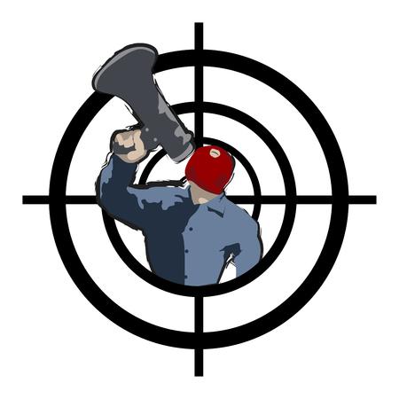 Hijacker at gunpoint
