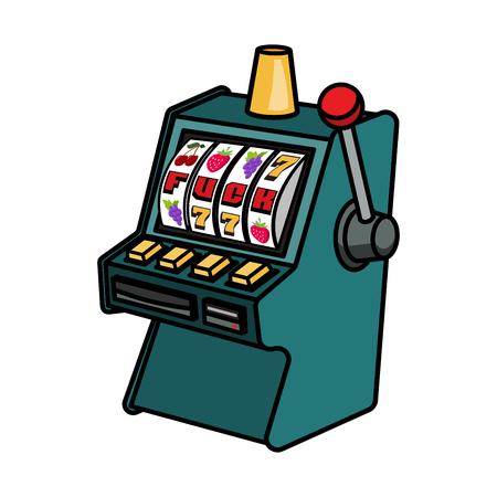 Slot machine vector illustration isolated on white background