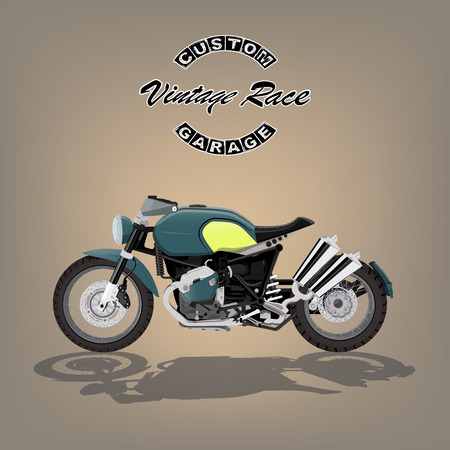 vintage motorcycle poster vector illustration