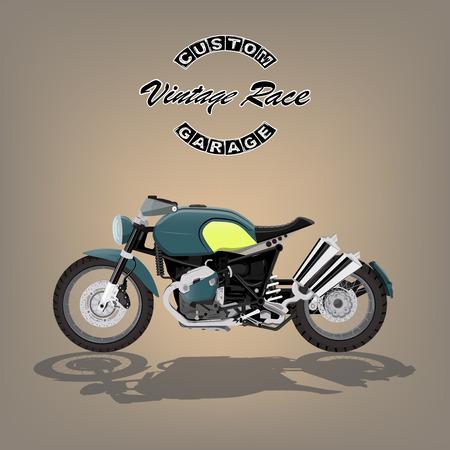 vintage motorcycle poster vector illustration