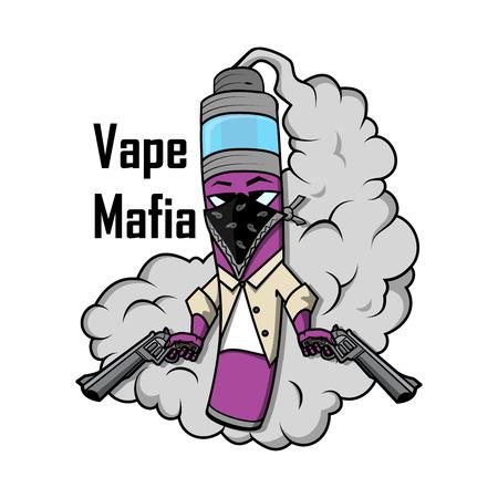 vape mafia illustration vaping juice for vape royalty free