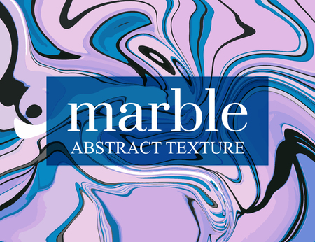 Violet gradient moving decoration. Liquid blue fluid trendy shapes. Minimal dynamic cover illustration.  Colorful blush modern banner, presentation template. Surface vector art. Vintage splash