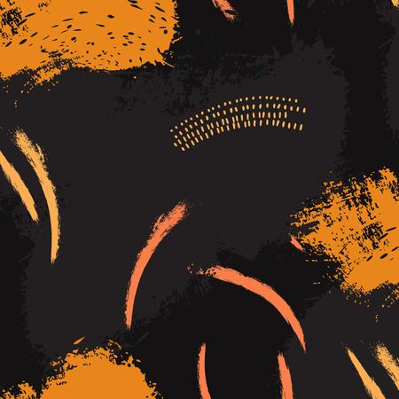 Black otange Fluid art. Applicable for design cover, presentation, invitation, flyer, annual report, poster and business card, desing packaging. Modern artwork Illustration