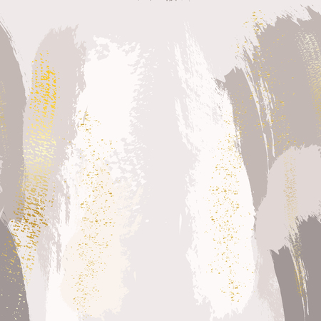 Sparkled glittern golden splashes on pastel grey background. Vector decoration for wallpaper, canvas, wedding, business cards, advertising, wrapping paper, trendy invitations