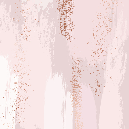 Brush strokes in gentle pastel colors on a white background. Delicate luxury rode pink texture template. Abstract wedding background palette. Banque d'images - 121896564