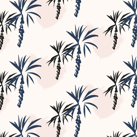 Tropical âùãèäó palm leaf background. Vector floral illustration with palm silhouettes. Summer nature print. Exotic plant