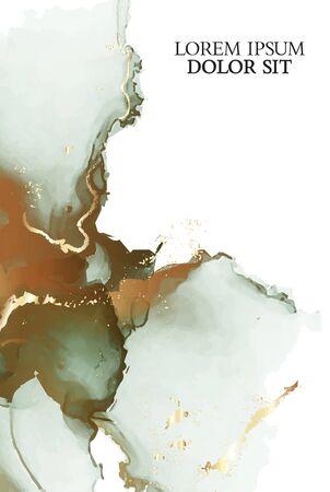 Marble green cover background vector set. Marble golden ink texture. Modern design background for wedding, invitation, web, banner, card, pattern, wallpaper vector illustration. Illustration