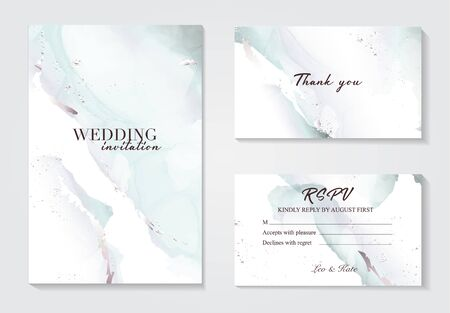 Holographic mint grey wedding marble card desing. Liguid splash abstract art. Marble tender design background for wedding, invitation, web, banner, card, pattern, wallpaper vector illustration