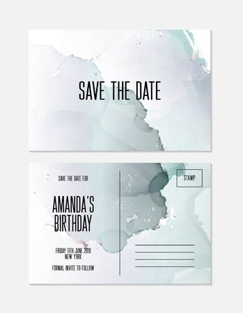 Marble wedding cover background vector set. Marble tender with texture. Modern design background for wedding, invitation, web, banner, card, pattern, wallpaper vector illustration.  Blue green color. Illustration